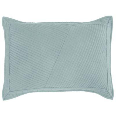 dkny west side standard pillow sham in blue