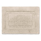 Wamsutta® Luxury 17-Inch x 24-Inch Border Plush MicroCotton Bath Rug in Linen