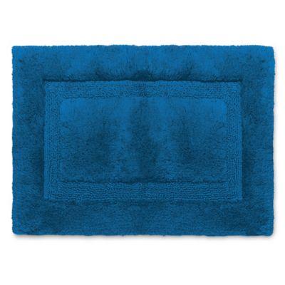 Wamsutta® Luxury 17 Inch X 24 Inch Border Plush MicroCotton Bath Rug In