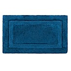 Wamsutta® Luxury 21-Inch x 34-Inch Border Plush MicroCotton Bath Rug in Peacock