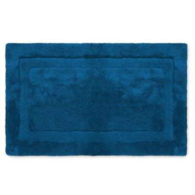 Wamsutta® Luxury 24 Inch X 40 Inch Border Plush MicroCotton Bath Rug In
