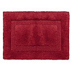 Wamsutta® Luxury 17-Inch x 24-Inch Border Plush MicroCotton Bath Rug in Garnet