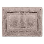 Wamsutta® Luxury 17-Inch x 24-Inch Border Plush MicroCotton Bath Rug in Lead