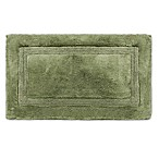 Wamsutta® Luxury 21-Inch x 34-Inch Border Plush MicroCotton Bath Rug in Celadon