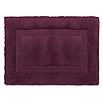 Wamsutta® Luxury 17-Inch x 24-Inch Border Plush MicroCotton Bath Rug in Port