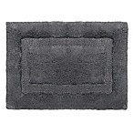 Wamsutta® Luxury 17-Inch x 24-Inch Border Plush MicroCotton Bath Rug in Slate Grey