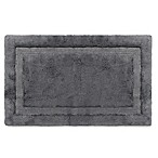 Wamsutta® Luxury 24-Inch x 40-Inch Border Plush MicroCotton Bath Rug in Slate Grey