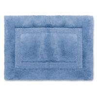 Wamsutta® Luxury 17-Inch x 24-Inch Border Plush MicroCotton Bath Rug in Twilight