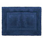 Wamsutta® Luxury 17-Inch x 24-Inch Border Plush MicroCotton Bath Rug in Midnight