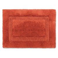 Wamsutta® Luxury 17-Inch x 24-Inch Border Plush MicroCotton Bath Rug in Mandarin