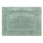 Wamsutta® Luxury 17-Inch x 24-Inch Border Plush MicroCotton Bath Rug in Basil