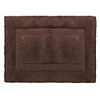 Wamsutta® Luxury 17-Inch x 24-Inch Border Plush MicroCotton Bath Rug in Espresso