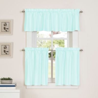 Newport 45 Inch Kitchen Window Curtain Tier Pair In Mint