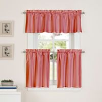Newport 45-Inch Kitchen Window Curtain Tier Pair in Coral