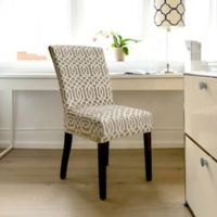 FurnitureSkins™ Abbey Stretch Dining Chair Slipcover in Biscuit
