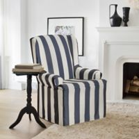 FurnitureSkins™ Hampton Wing Chair Slipcover in Navy