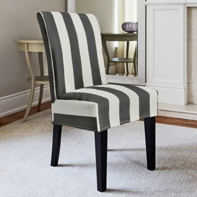 FurnitureSkinsTM Hampton Dining Chair Slipcover In Charcoal