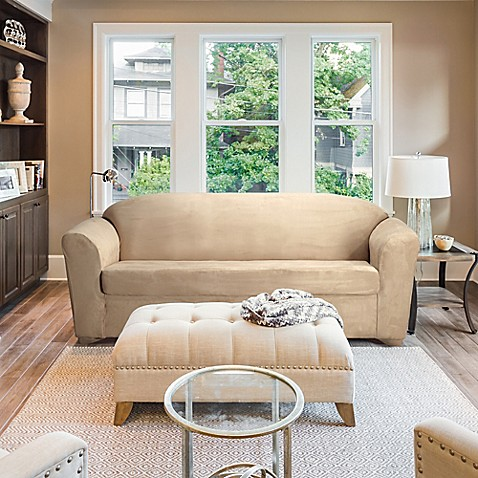 Furnitureskins Madison Stretch Suede Sofa And Loveseat