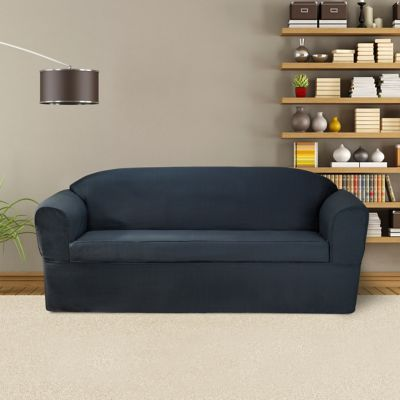 FurnitureSkins™ Bayview 2 Piece Wrap Style Sofa Slipcover For Box Or  T Cushion