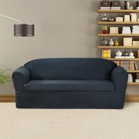 FurnitureSkins™ Bayview 2-Piece Wrap Style Sofa Slipcover for Box or T-Cushion in Navy