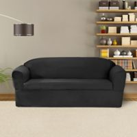 FurnitureSkins™ Bayview 2-Piece Wrap Style Sofa Slipcover for Box or T-Cushion in Charcoal