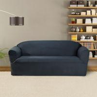 FurnitureSkins™ Bayview 1-Piece Sofa Wrap Style Slipcover in Navy