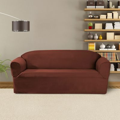 FurnitureSkins™ Bayview 1 Piece Sofa Wrap Style Slipcover In Red
