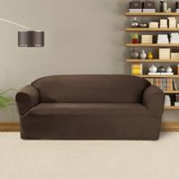 FurnitureSkins™ Bayview 1-Piece Sofa Wrap Style Slipcover in Bark