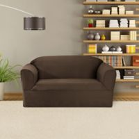 FurnitureSkins™ Bayview 1-Piece Loveseat Wrap Style Slipcover in Bark