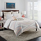 Cupcakes and Cashmere Kilim King Duvet Cover in White/Grey