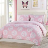 Lala + Bash Plie Dots 2-Piece Reversible Twin Comforter Set in Pink