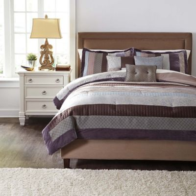 Kady Steel 6-Piece Comforter Set in Slate Blue