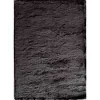 Rugs America Luster 1-Foot 6-inch x 2-Foot 3-Inch Shag Accent Rug in Black