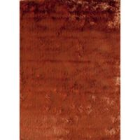 Rugs America Luster 1-Foot 6-Inch x 2-Foot 3-Inch Shag Accent Rug in Orange
