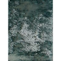 Rugs America Luster 2-Foot 3-Inch x 7-Foot 6-Inch Shag Runner in Blue