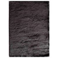Rugs America Luster 5-Foot x 7-Foot 6-Inch Shag Area Rug in Black