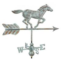Good Directions Horse Cottage Weathervane with Roof Mount in Blue Verde Finish