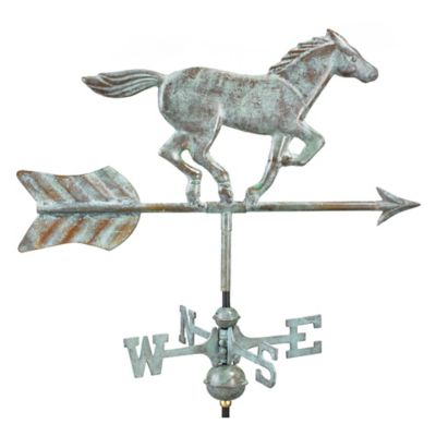 Good Directions Horse Garden Weathervane With Garden Pole In Blue Verde  Finish