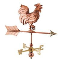 Good Directions Rooster Cottage Weathervane with Roof Mount in Copper