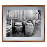 Barn Barrels Framed Graphic Wall Art