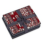 Reversible Fair Isle Gift Boxed Moose Knit Cozy Throw Blanket in Red