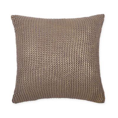 Metallic Gold 18-Inch Square Throw Pillow