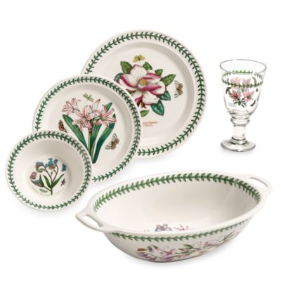 Portmeirion® Botanic Garden 17-Piece Dinnerware Set  sc 1 st  Bed Bath \u0026 Beyond & Buy Microwave Safe Dinnerware from Bed Bath \u0026 Beyond