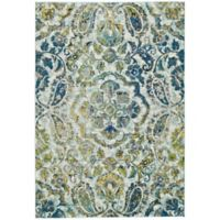 Feizy Caslon Center Medallion 8-Foot x 11-Foot Area Rug in Azure