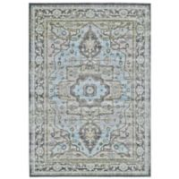 Feizy Landri Center Medallion 8-Foot x 11-Foot Area Rug in Taupe/Blue