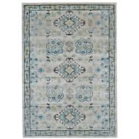 Feizy Landri Border 8-Foot x 11-Foot Area Rug in Taupe/Blue