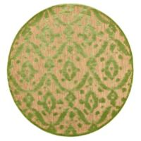 Feizy Tahla I 7-Foot 6-Inch x 7-Foot 6-Inch Round In Tan/Light Green