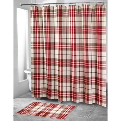 Beau Avanti Hunter Plaid Shower Curtain