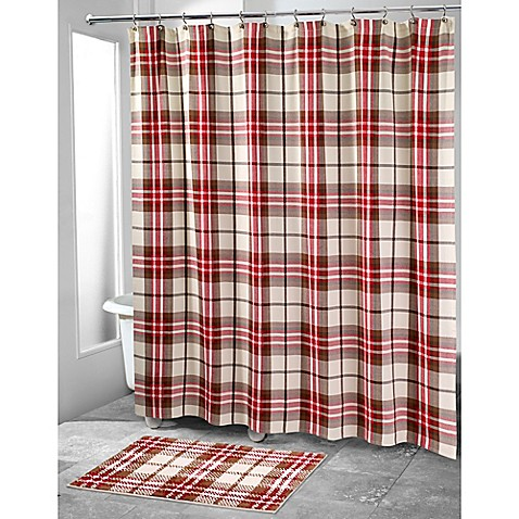 with the avanti hunter plaid shower curtain this shower curtain