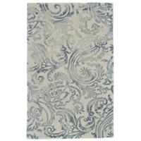 Feizy Billingsley Damask 8-Foot x 11-Foot Area Rug in Grey